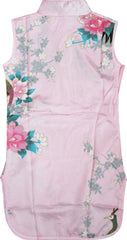 Girls Dress Pink Peacock Silk Cheongsam Chinese Children Clothing Size 12M-8 Years