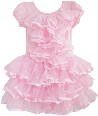 Girls Dress Multi-layer Tulle Tutu Dancing Party Size 2-6 Years
