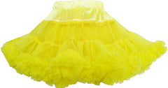 Girls Skirt Tutu Dancing Dress Party Yellow Kids Clothes Size 2-10 Years