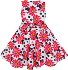 2 Pecs Girls Dress Hat Flower Summer Party Holiday Princess Size 4-12 Years