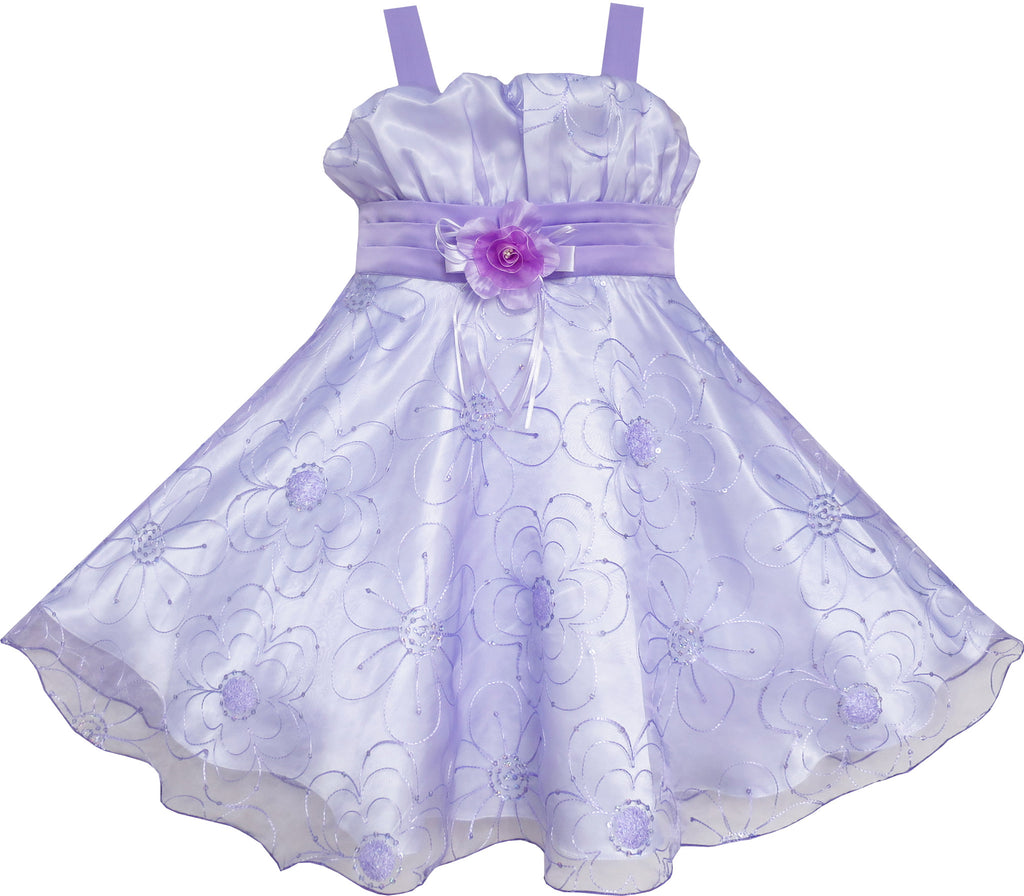 Girls Dress Purple Tank Pageant Dancing Size 4-8 Years