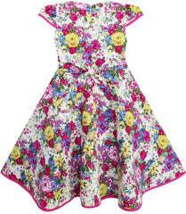 Girls Dress Big Girls Floral Princess Christmas Holiday Size 4-12 Years
