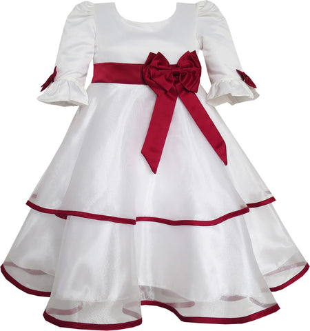Annabelle Dress For Girls Clothing Bow Tie Lace Formal Party Size 12-12 Years