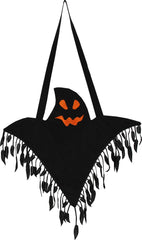 Girls Dress Halloween Witch Costume Ghost Bag Black Green Size 5-12 Years