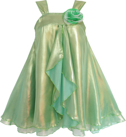 Girls Dress Shinning Satin Tulle Halloween Party Flower Size 4-14 Years