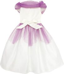Flower Girl Dress Princess Rose Mesh Sequin Wedding Purple Size 4-14 Years