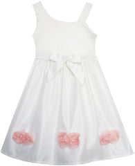 Girls Dress Asymmetric One Shoulder Flower Girl Party Size 2-6 Years