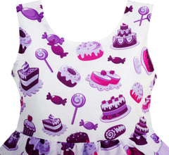 Girls Dress Cake Candy Birthday Layered Tulle Purple Size 4-10 Years
