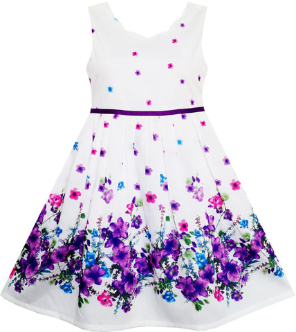 Girls Dress Elegant Princess Blooming Flower In Wind Size 4-12 Years