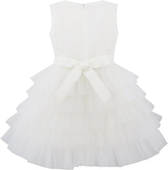 Girls Dress Colorful Glitter Sequin Ruffle Dress Princess Pageant Size 3-10 Years
