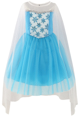 Girls Dress Elsa Princess Costume Party Birthday Size 3-12 Years