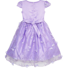 Flower Girls Dress Butterfly Party Wedding Bridesmaid Dress Size 4-10 Years