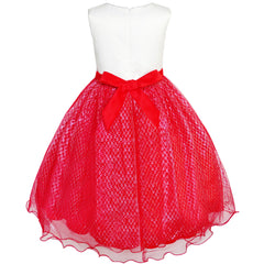 Girls Dress Glitter Sequin Wedding Bridesmaid Pageant Size 4-14 Years