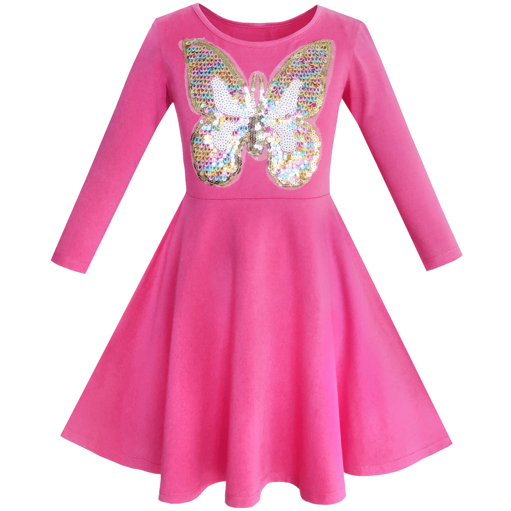 Girls Dress Owl Ice Cream Butterfly Sequin Everyday Dress Size 5-12 Years