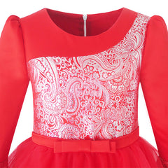 Girls Dress Red Tiered Layers Holiday Party Pageant Dress Size 7-14 Years