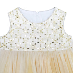 Baby Girls Dress Sparkling Lace Sequin Pageant Wedding Birthday Size 6M-24M Years
