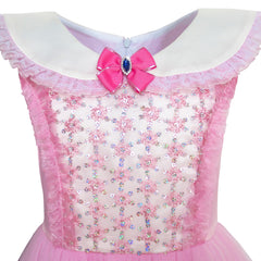 Girls Dress Pink Princess Costume Cinderella Fancy Birthday Ball Size 6-14 Years