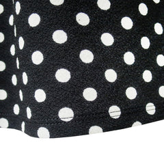 Girls Dress Black White Dot Short Sleeve Back School Dress Size 3-12 Years