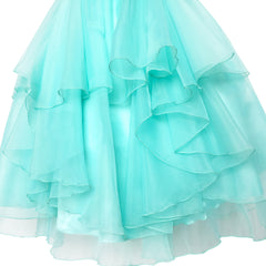 Flower Girls Dress Rhinestone Tulle Wedding Pageant Bridesmaid Size 5-12 Years