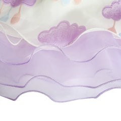Girls Dress Purple Raining Cloud Ruffle Skirt Party Size 4-14 Years