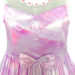 Girls Dress Elsa Anna Cartoon Lace Birthday Party Princess Size 5-12 Years