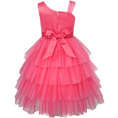 Girls Dress Watermelon Tiered Skirt Flower Dance Ball Princess Size 5-10 Years