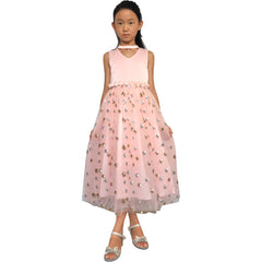 Flower Girls Dress Sparkling Sequins Star Pearl Wedding Party Size 7-14 Years