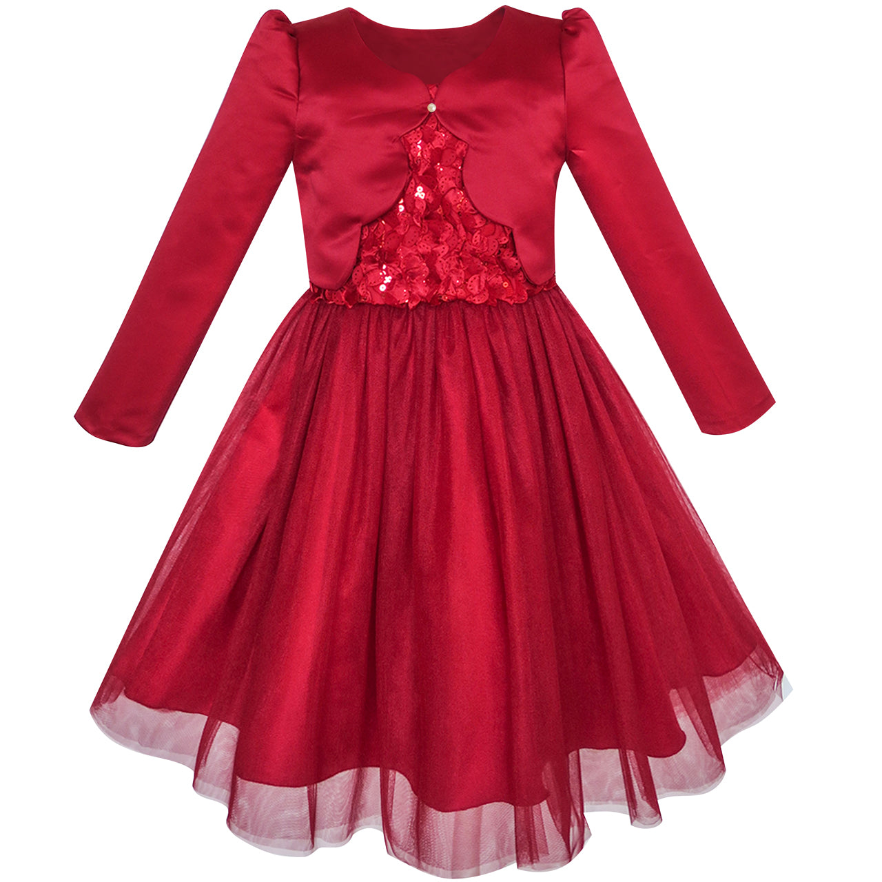 Girls Dresses in Red Color | Sunny Fashion