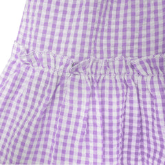 Girls Dress Purple Tank Smocked Ruffle Skirt Size 12M-5 Years