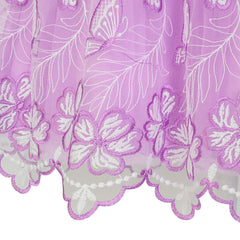Girls Dress Purple Butterfly Embroidered Halter Dress Party Size 5-12 Years