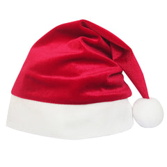 Girls Dress Christmas Hat Red Velvet Long Sleeve Holiday Size 4-14 Years
