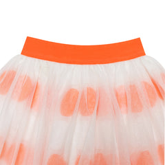 Girls Skirt Orange Bow Tie Sparkling Tutu Dancing Dress Size 4-12 Years