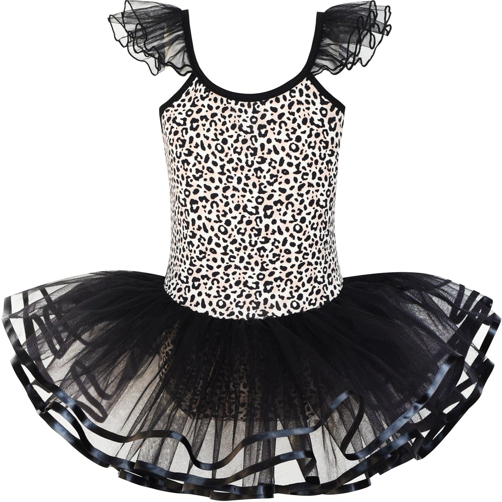 Girls Dress Cute Tutu Dancing Leopard Print Ball Size 2-8 Years