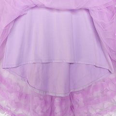 Girls Dress A-line Cute Handbag Purple Princess Size 5-10 Years