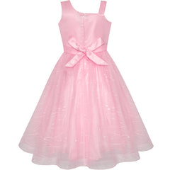 Flower Girl Dress One Shoulder Sparkling Pageant Wedding Size 6-12 Years