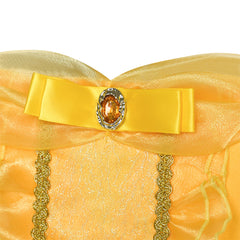 Princess Belle Costume Dress Up Girls Dress Yellow Size 4-12 Years