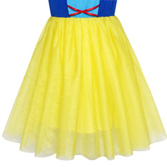 Princess Costume Dress Up Snow White Halloween Party Size 5-10 Years