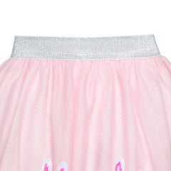 Girls Skirt Pink Strawberry Sequins Sparkling Tutu Dancing Size 2-10 Years