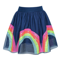 Girls Skirt Colorful Rainbow Sequins Sparkling Tutu Dancing Size 2-10 Years