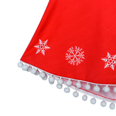 Girls Dress Red Cape Cloak Christmas New Year Holiday Party Size 4-14 Years