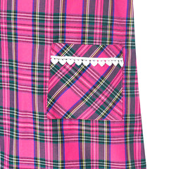 Girls Dress Pink Tartan Back School Uniform Pocket A-line Dress Size 4-10 Years