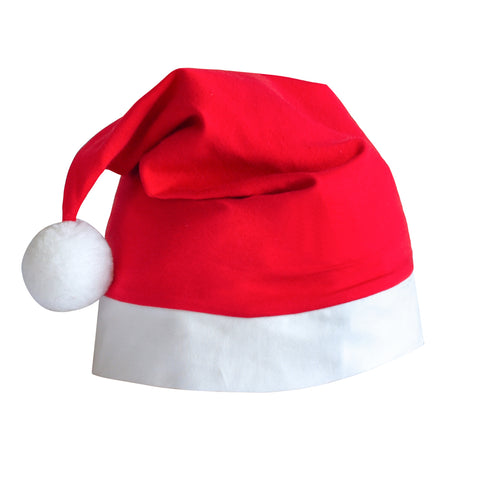 Girls Christmas Santa Hat Red White Size 5-10 Years