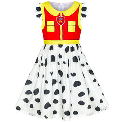 Girls Dress Paw Patrol Marshall Costume Halloween Party Size 3-7 Years