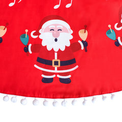 Girls Dress Santa Red Cape Cloak Christmas New Year Size 4-14 Years