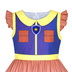 Girls Dress Paw Patrol Chase Cosplay Party Size 3-7 Years