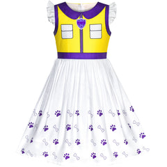 Girls Dress Paw Patrol Apollo Cosplay Party Size 3-7 Years