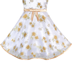 Flower Girls Dress Off Shoulder Champagne Flower Pageant Size 5-10 Years