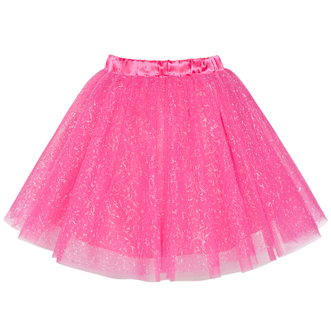 Girls Skirt Rose 3-layers Tutu Dancing Ballet Size 4-10 Years