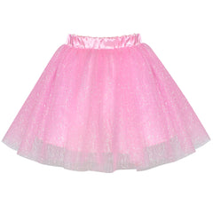 Girls Skirt Pink 3-layers Tutu Dancing Ballet Size 4-10 Years