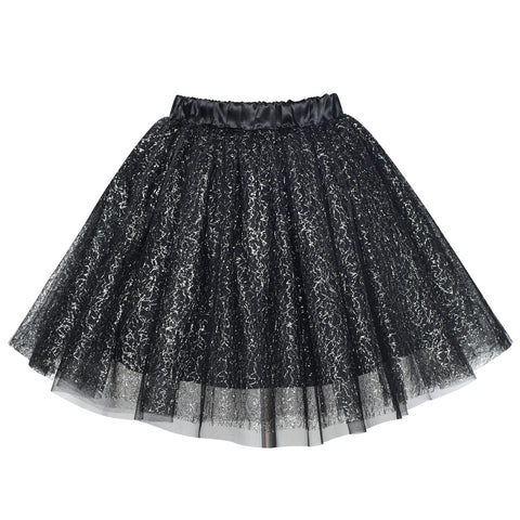 Girls Skirt Black 3-layers Tutu Dancing Ballet Size 4-10 Years